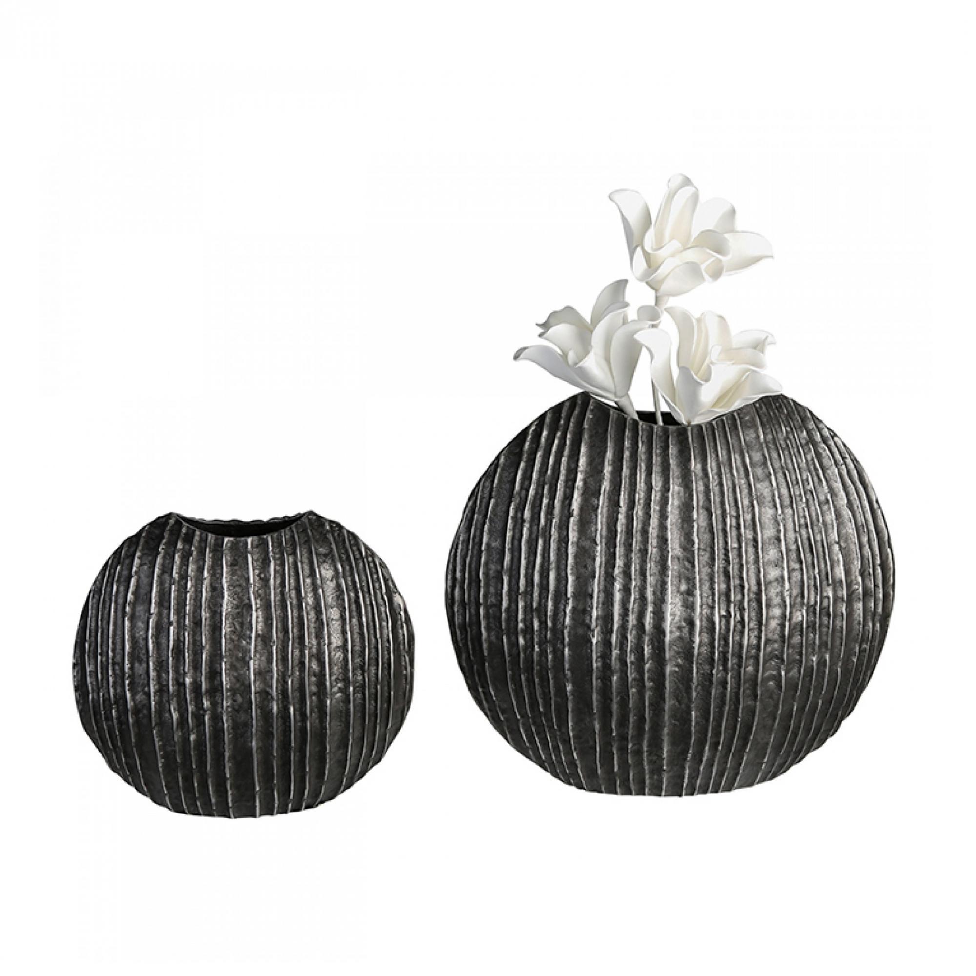 Hliníková váza Vulcano, 26 cm, grafitová