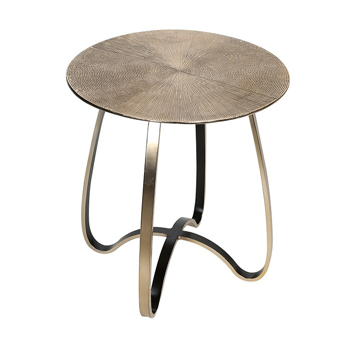 Hliníkový odkládací stolek Delight, 46 cm, champagne