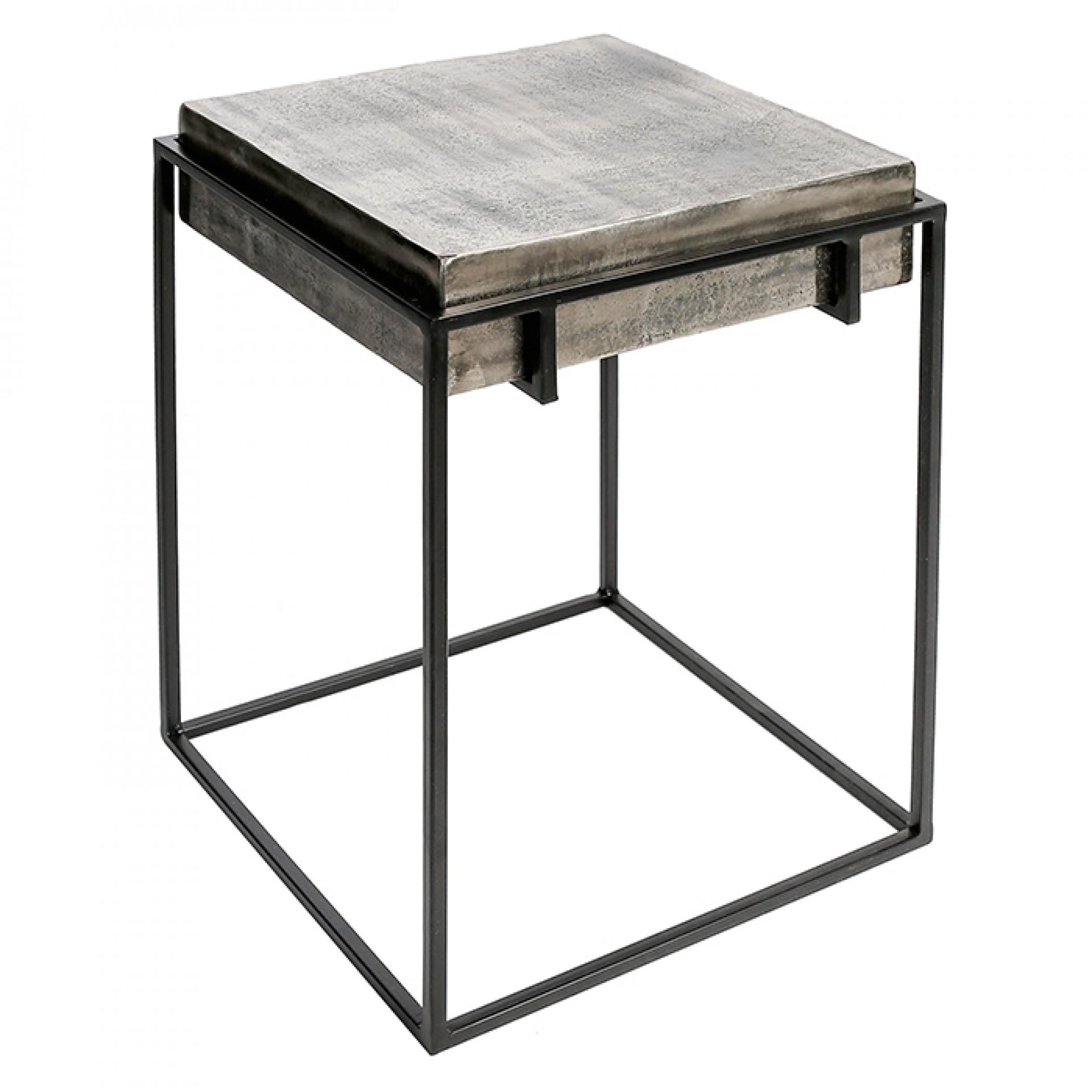 Hliníkový odkládací stolek Millenium, 42,5 cm
