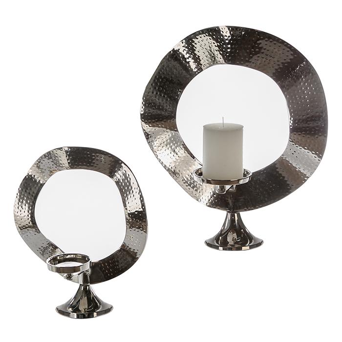 Hliníkový svícen Strado curved, 35 cm