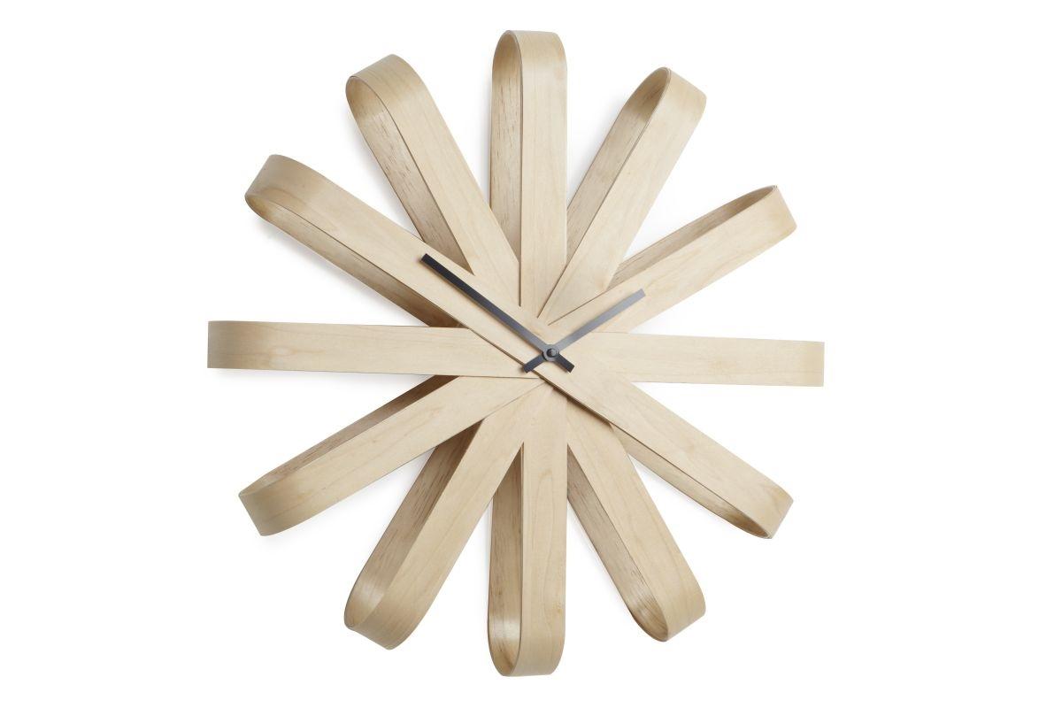 Hodiny nástěnné dřevěné Ribbon, 51 cm
