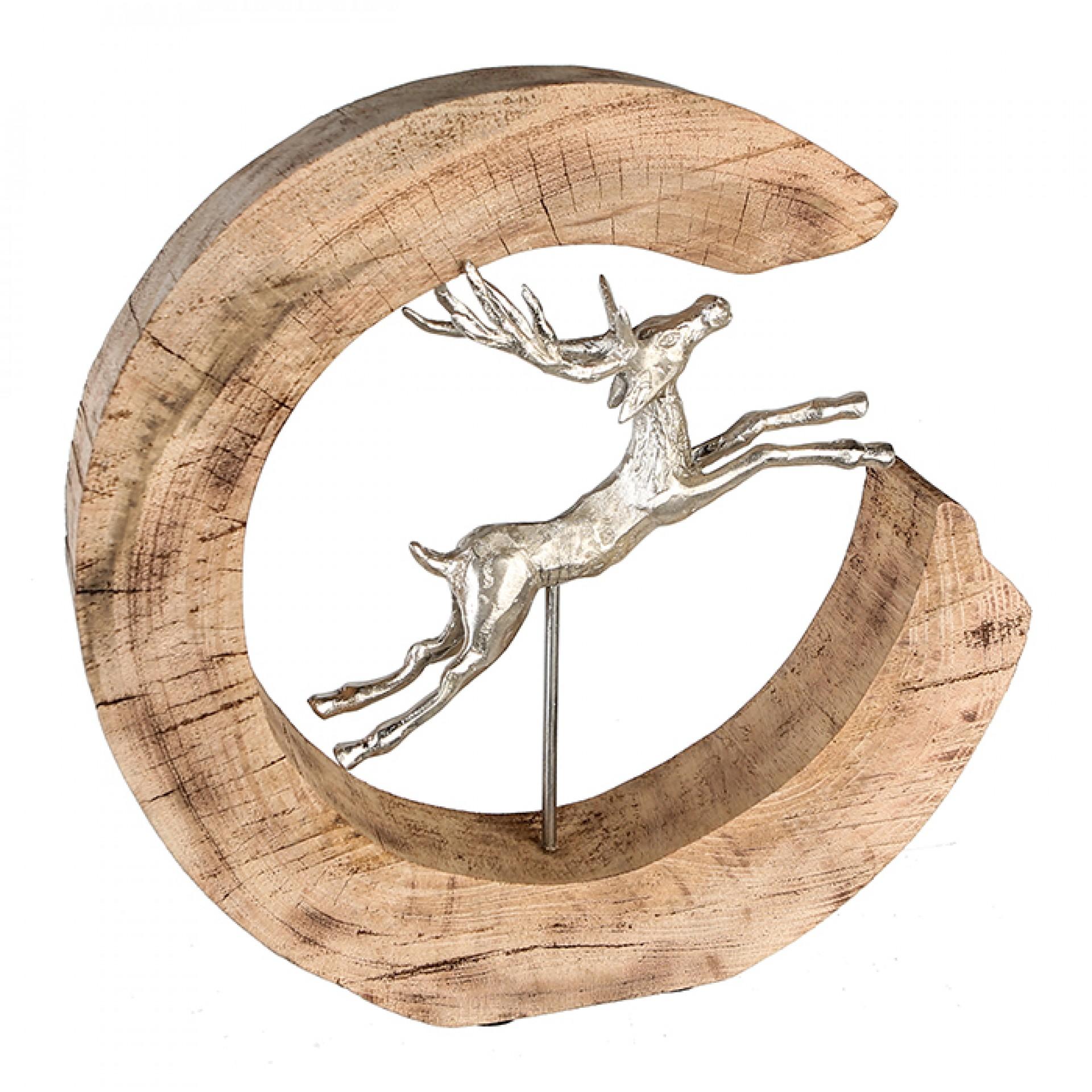 Interiérová dekorace Jumbing deer, 36 cm