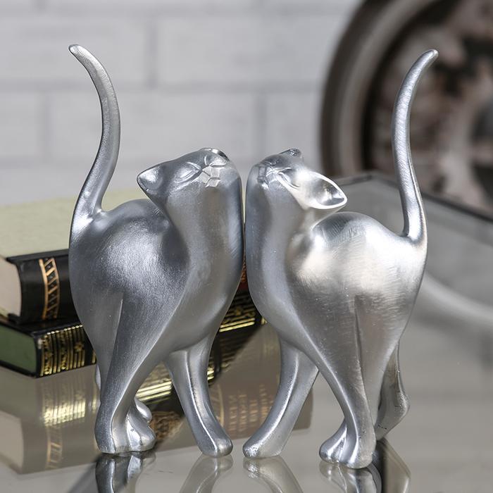 Interiérová dekorace kočky Minka, 23 cm, sada 2 ks