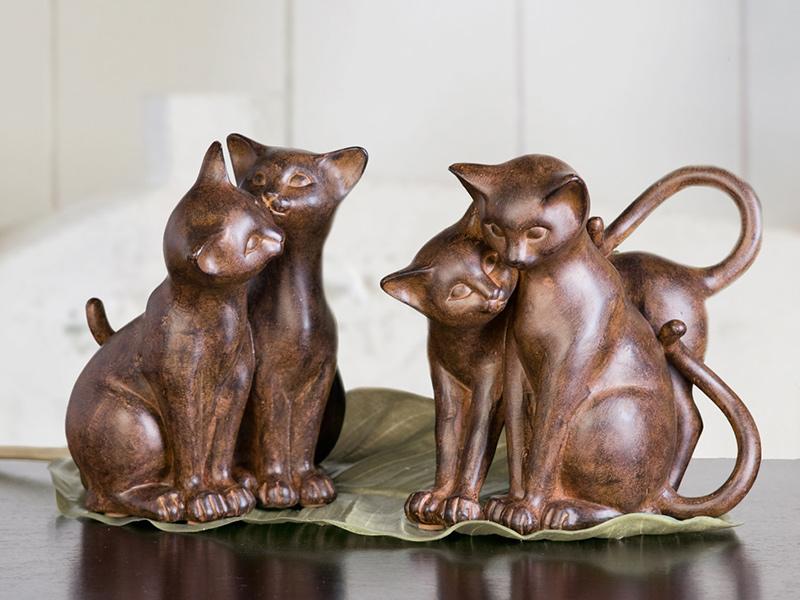Interiérová dekorace Kočky, sada 2 ks, 18 cm