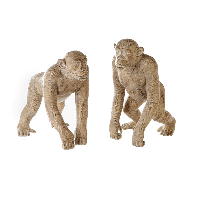 Interiérová dekorace Monkeys, 30 cm, sada 2 ks