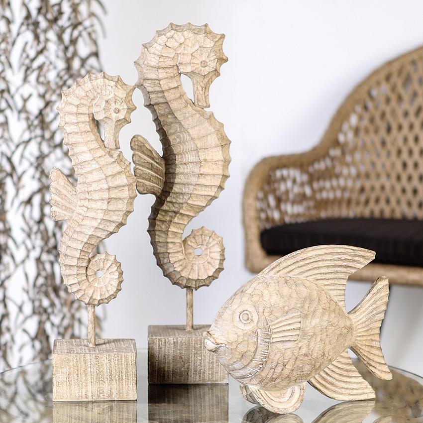 Interiérová dekorace Mořský koník, 46 cm
