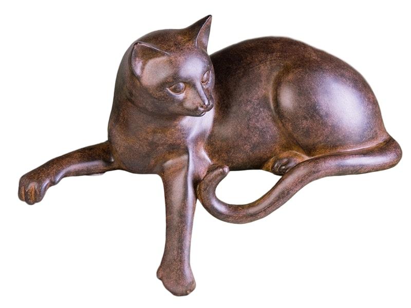Interiérová dekorace Odpočívající kočka, 28 cm