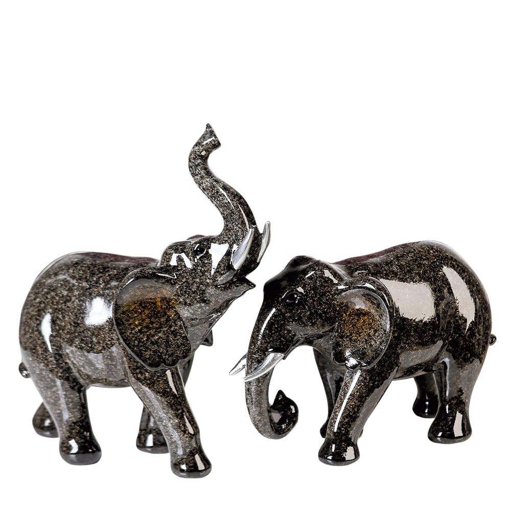 Interiérová dekorace slon Tracy, 21 cm, sada 2 ks