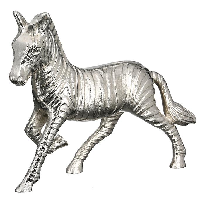 Interiérová dekorace Zebra, 29 cm, stříbrná