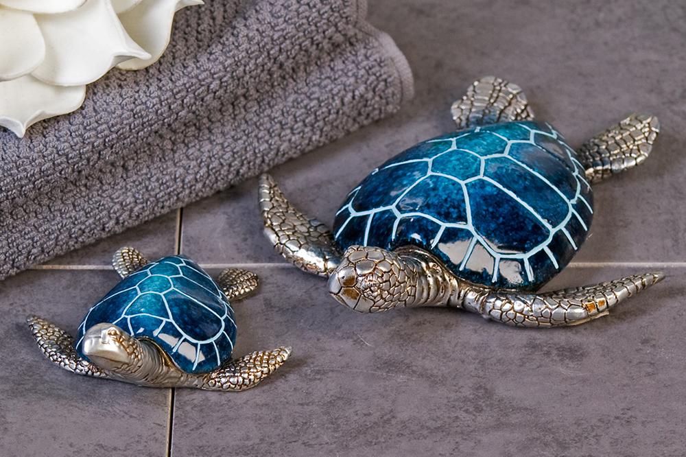 Interiérová dekorace želva Josie, 18 cm, modrá