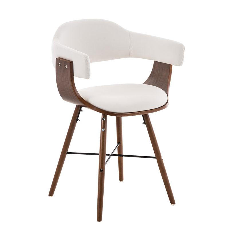 Jedálenská / rokovacia stolička drevená Dancer II. (SET 2 ks), krémová