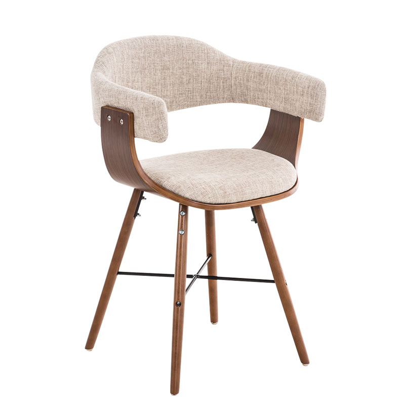 Jedálenská / rokovacia stolička drevená Dancer II. textil (SET 2 ks), modrá
