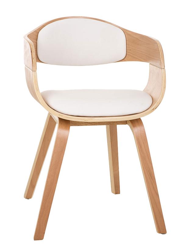 Jedálenská / rokovacia stolička drevená Kingdom (SET 2 ks), biela, biela