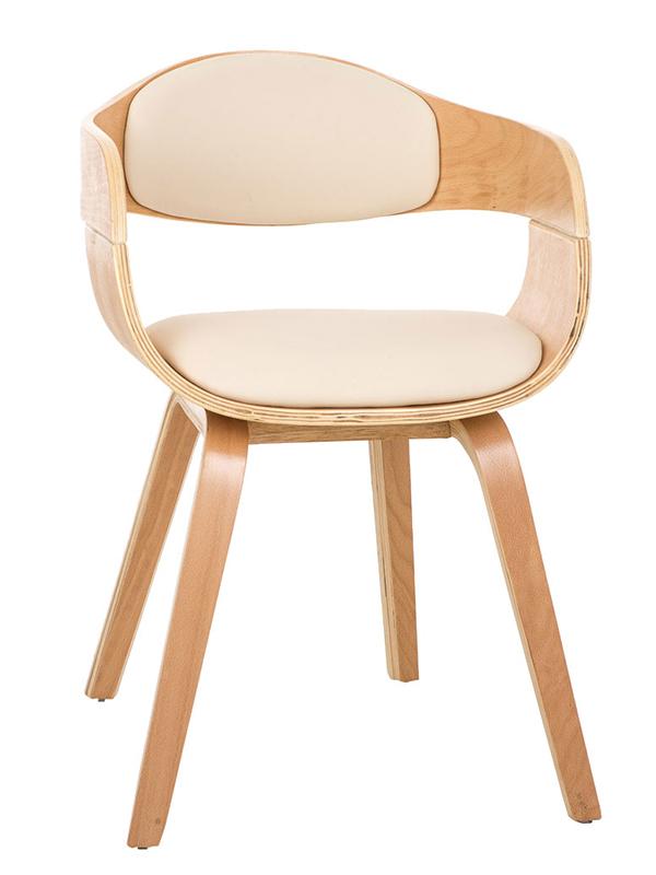Jedálenská / rokovacia stolička drevená Kingdom (SET 2 ks), krémová, krémová