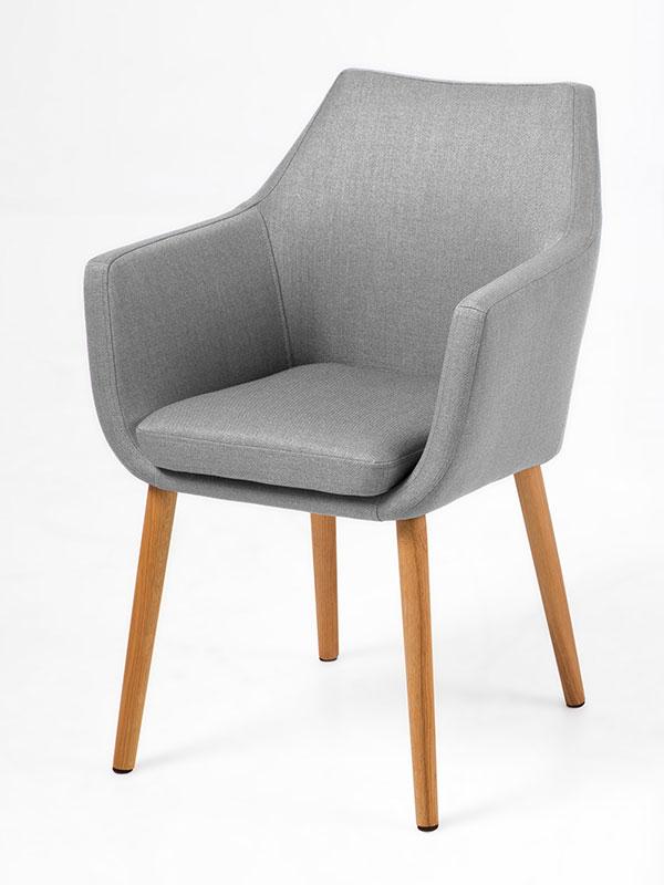 Jedálenská / rokovacia stolička s podrúčkami Marte B, modrá