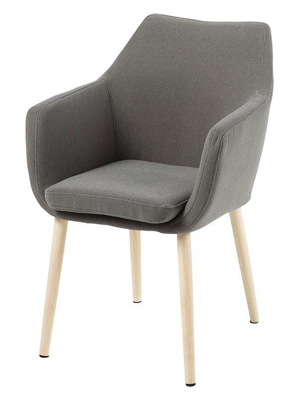 Jedálenská / rokovacia stolička s podrúčkami Marte C, šedá