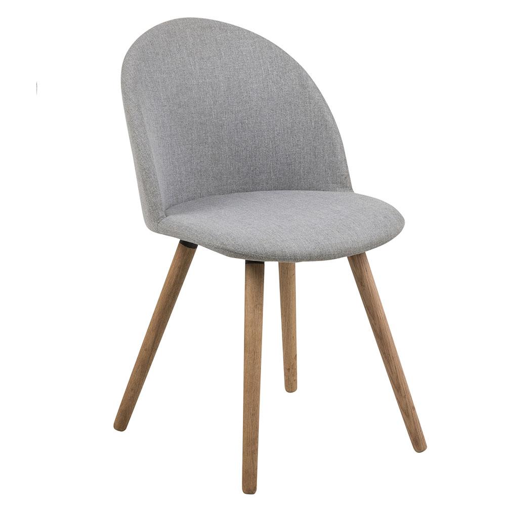 Jedálenská stolička Aneta (SET 2 ks), sivá, šedá