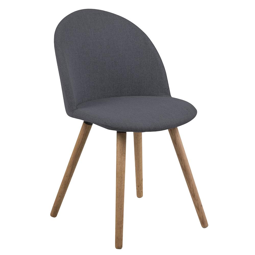 Jedálenská stolička Aneta (SET 2 ks), tmavosivá, tmavo šedá