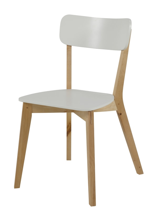 Jedálenská stolička drevená Corby (SET 2 ks) breza / biela, breza / biela