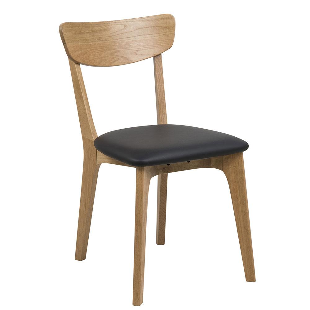 Jedálenská stolička drevená Xena (SET 2 ks), dub / čierna