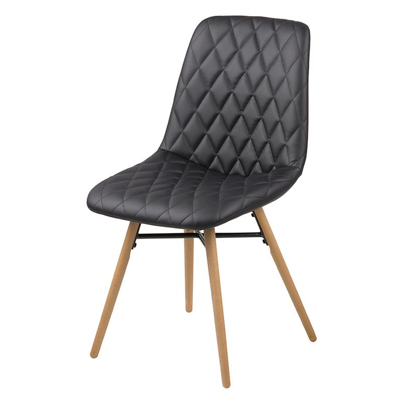 Jedálenská stolička Filip (SET 2 ks), čierna, čierna