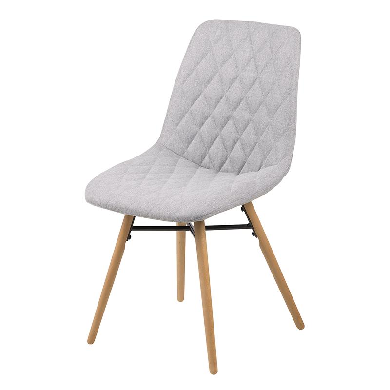 Jedálenská stolička Filip (SET 2 ks), sivá, šedá
