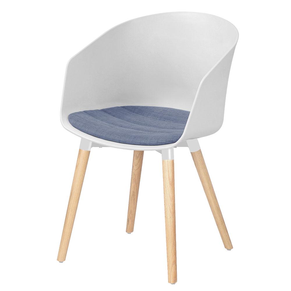 Jedálenská stolička Lumia 30 (SET 2 ks), biela/levanduľová, biela / levanduľová