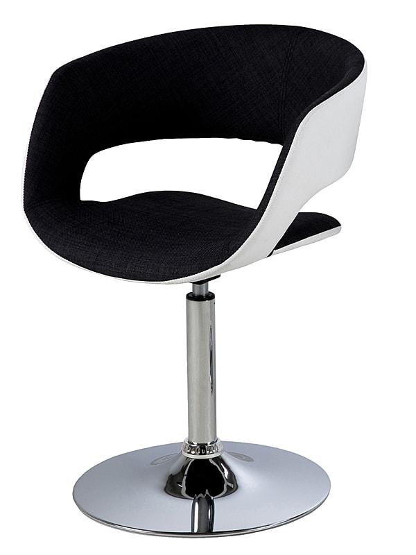 Jedálenská stolička na centrálnej nohe Garry biela / antracit, biela / antracit