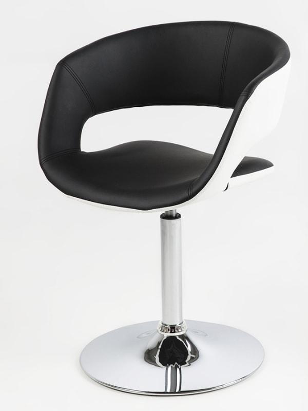 Jedálenská stolička na centrálnej nohe Garry biela / čierna, biela / čierna