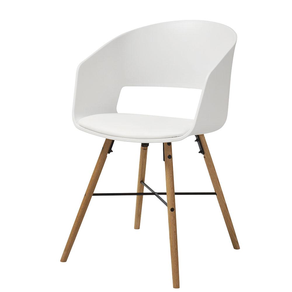 Jedálenská stolička Nadja (SET 2 ks), biela, biela