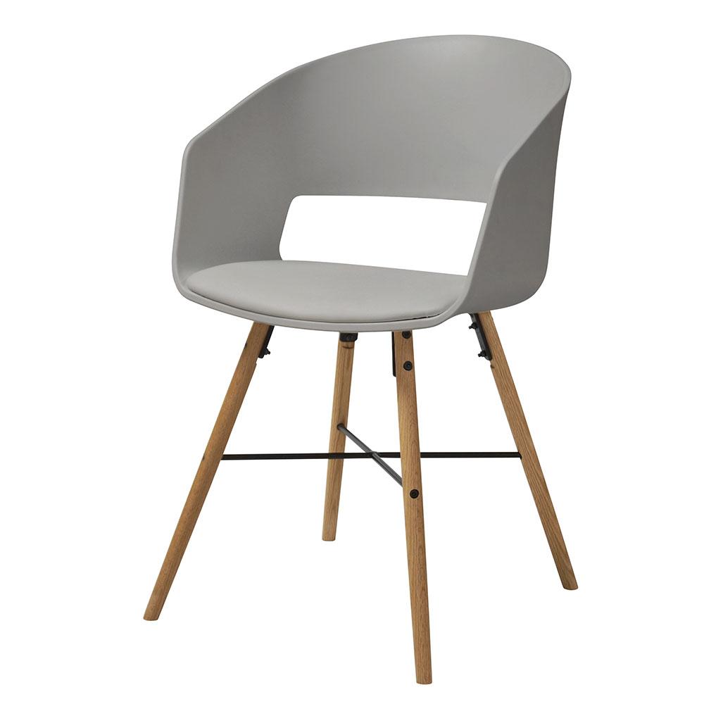 Jedálenská stolička Nadja (SET 2 ks), sivá, šedá