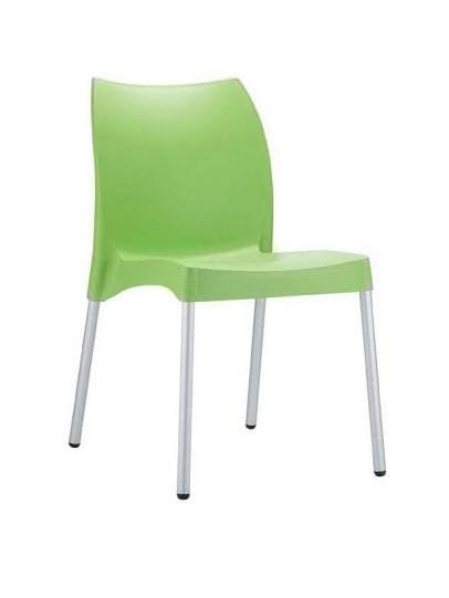 Jedálenská stolička plastová Willy (SET 2 ks), krémová