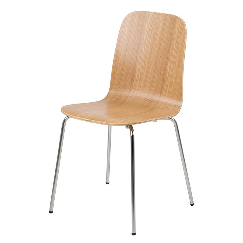 Jedálenská stolička Ronja (SET 4 ks), dub, dub