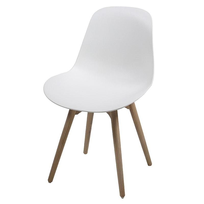Jedálenská stolička s masívnymi nohami Shale (SET 2 ks) biela, biela