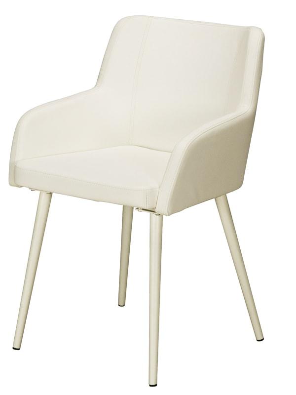 Jedálenská stolička s opierkami Venice (SET 2 ks) biela, biela