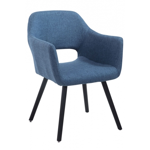 e63fa5500ef15 Čalúnená jedálenská stolička Arizona s čiernymi nohami | DESIGN DISCOUNT