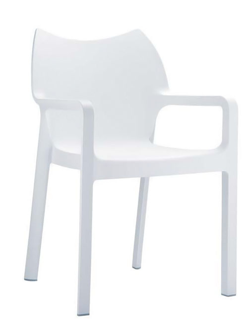 Jedálenská stolička s podrúčkami Demy (SET 2 ks), krémová