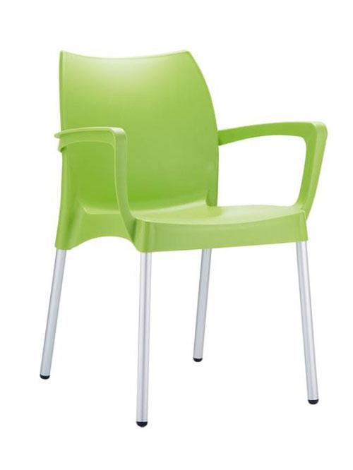 Jedálenská stolička s podrúčkami Dolly (SET 2 ks), krémová