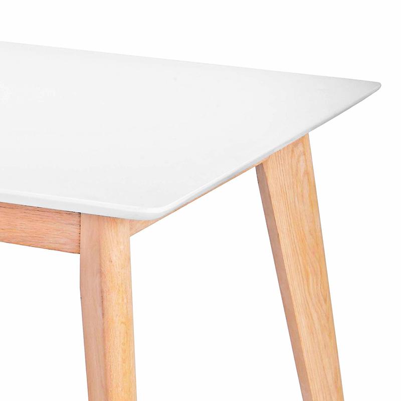 Jedálenský stôl Milenium, 160 cm, biela/dub, biela / dub