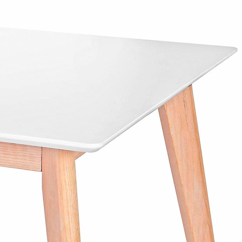 Jedálenský stôl Milenium, 200 cm, biela/dub, biela / dub