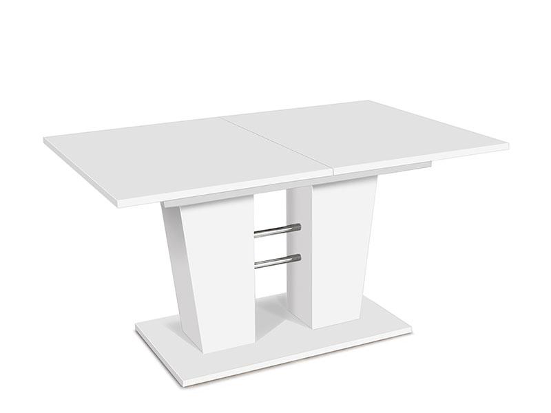 Jedálenský stôl rozkladací Brenda, 180 cm, biela, biela