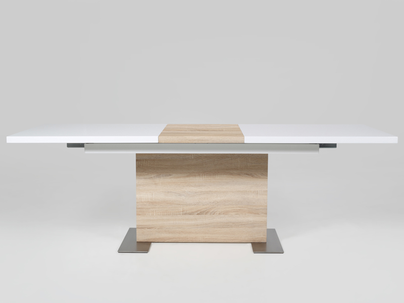 Jedálenský stôl rozkladací Hardy, 210 cm, biela / dub