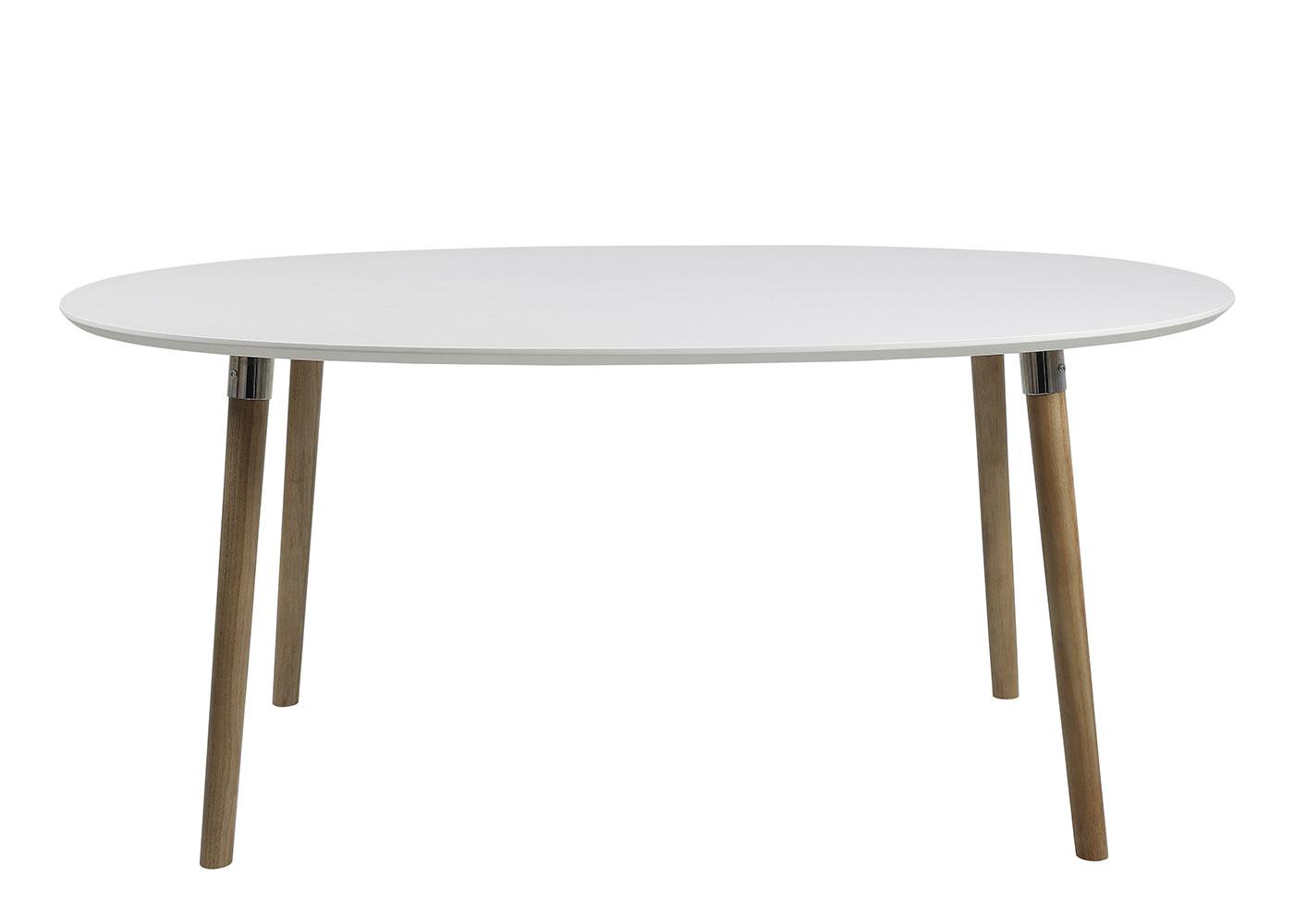 Jedálenský stôl Ballet, 170 cm, biela / dub