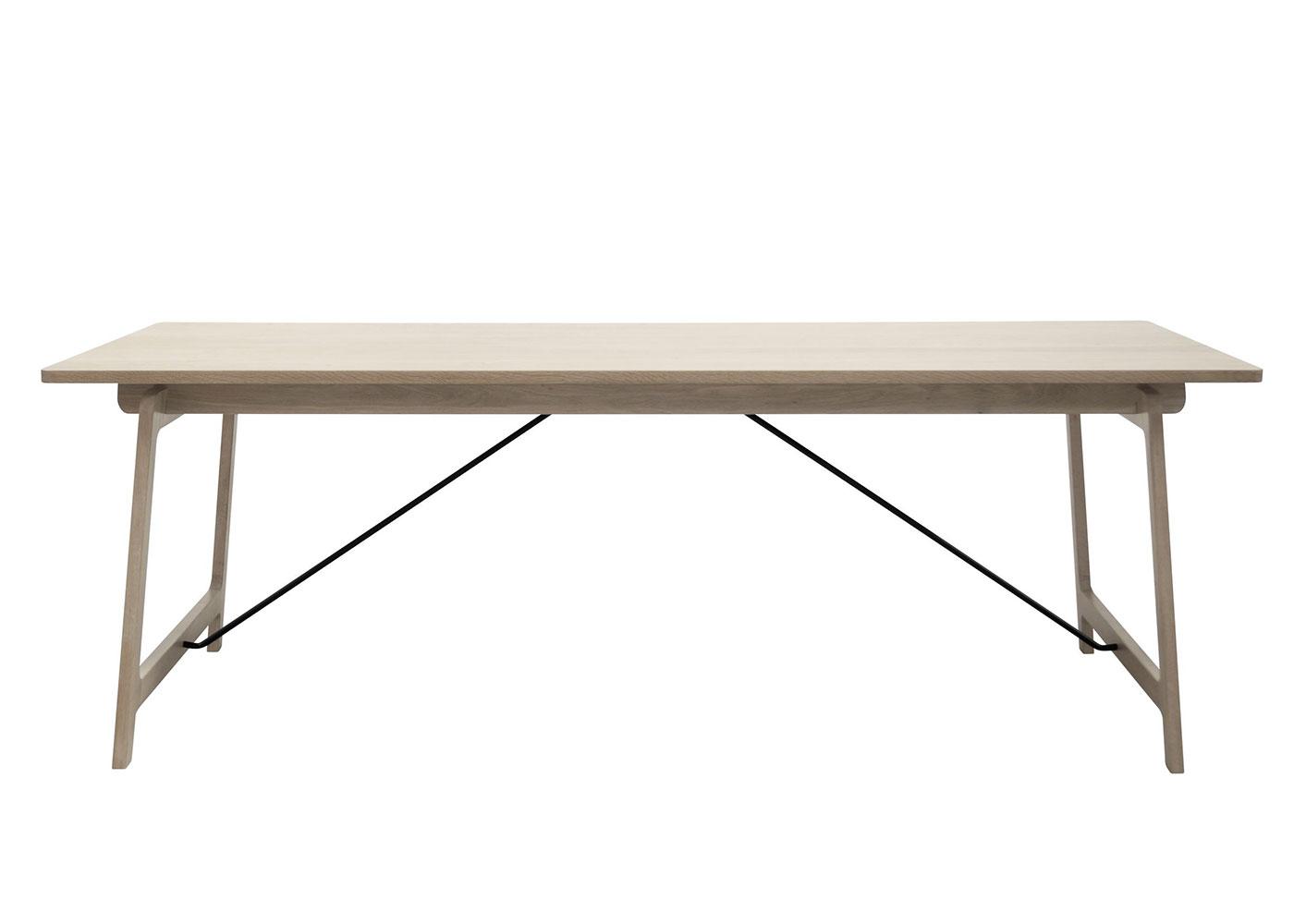 Jedálenský stôl Kerstin, 220 cm, dub, dub