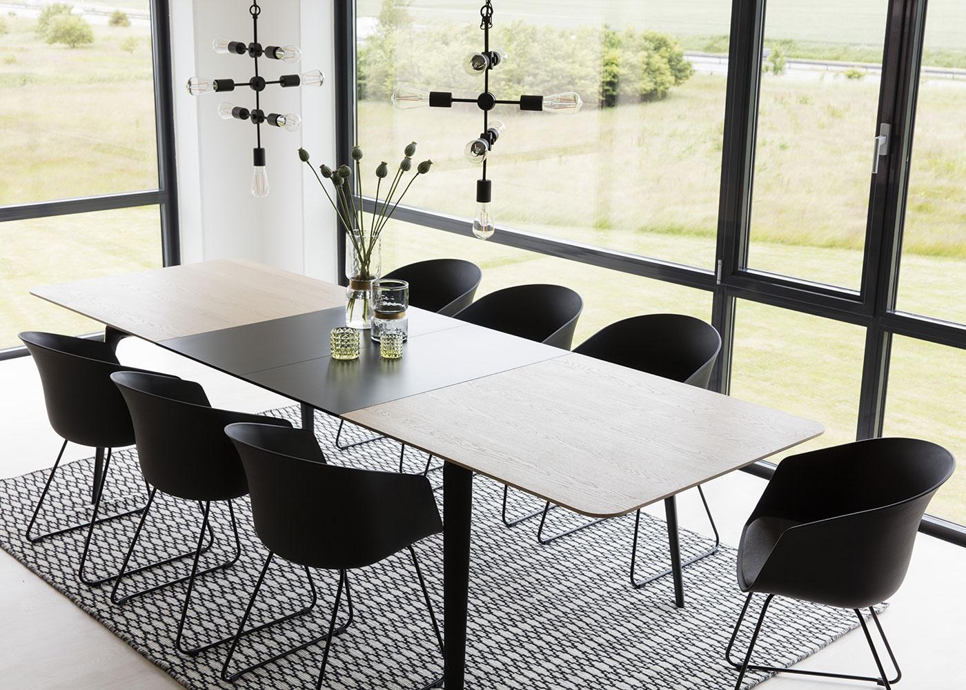 Jedálenský stôl Perfect, 200 cm, dub/čierna, dub / čierna