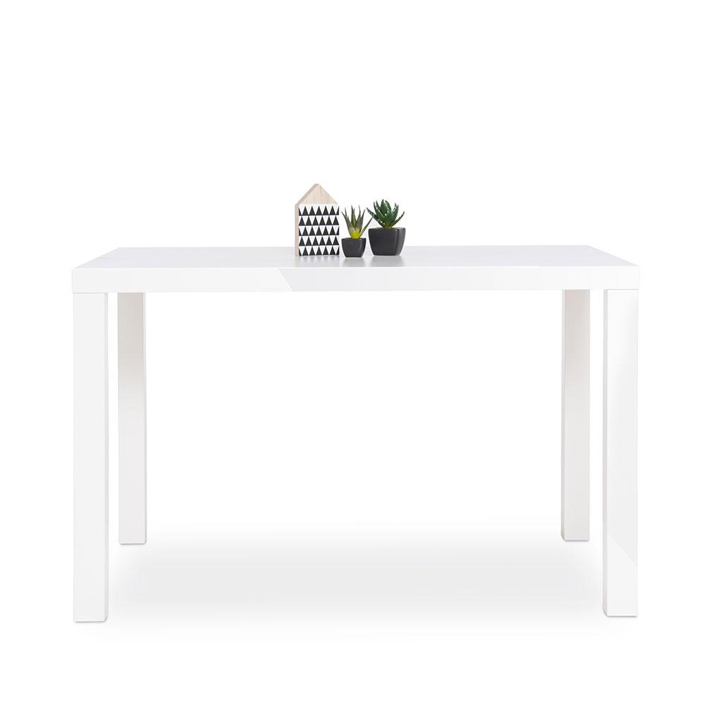 Jedálenský stôl Priscilla, 120 cm, biela lesk, biela