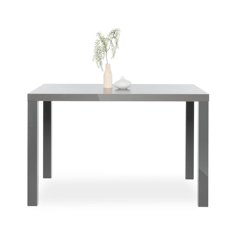 Jedálenský stôl Priscilla, 120 cm, sivá lesk, šedá