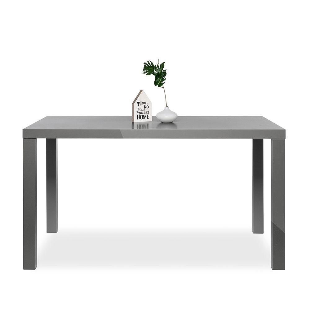 Jedálenský stôl Priscilla, 140 cm, sivá lesk, šedá