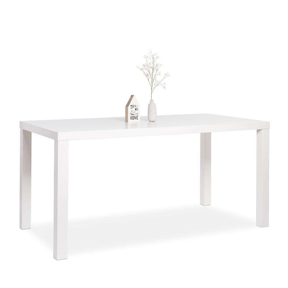 Jedálenský stôl Priscilla, 160 cm, biela mat, biela