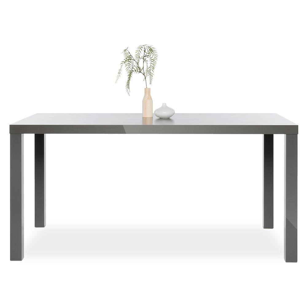 Jedálenský stôl Priscilla, 160 cm, sivá mat, šedá